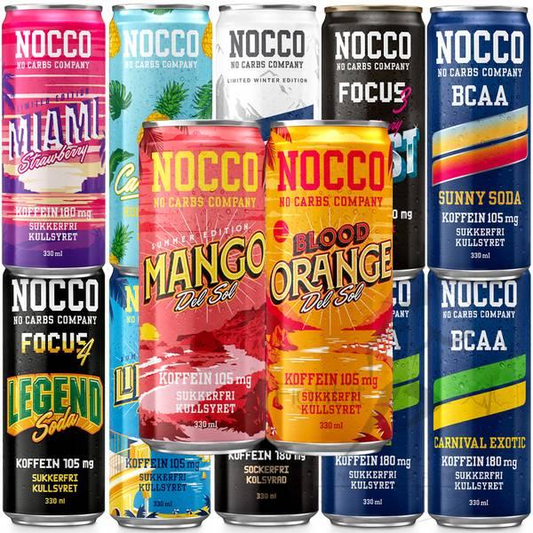 Bilde av Nocco BCAA - Smakspakken (13x330ml)