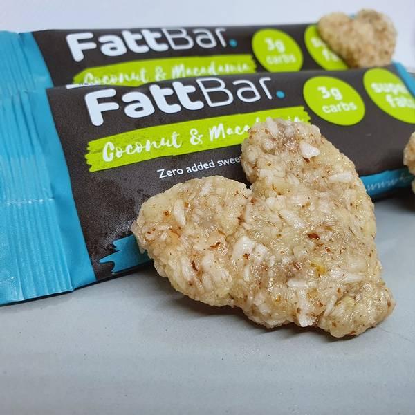 Bilde av FattBar Energibar - Coconut & Macedamia (12x30g)