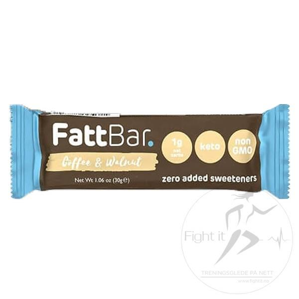 Bilde av FattBar Energibar - Coffee & Walnut (12x30g)