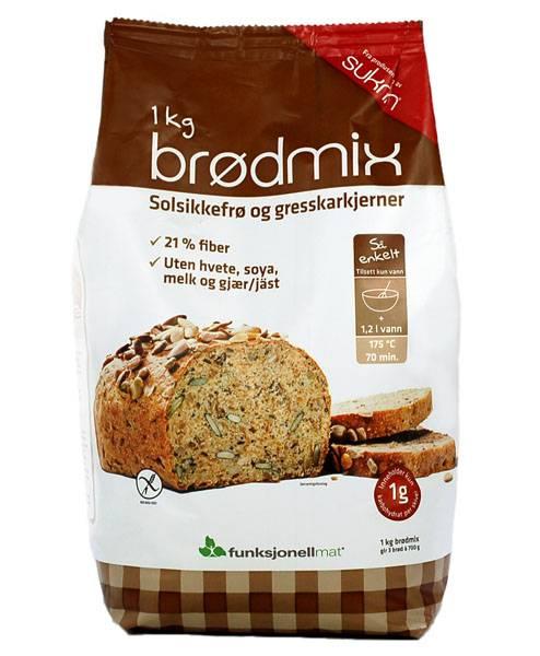 Bilde av Sunnere Brødmix Fiberbrød 1kg