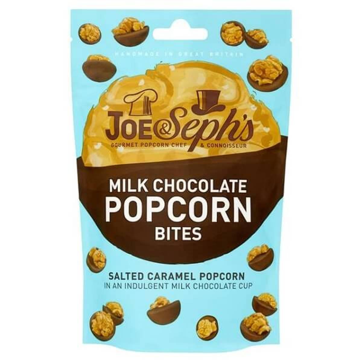 Joe & Seph`s - Milk Chocolate & Salted Caramel Popcorn Bites 63g