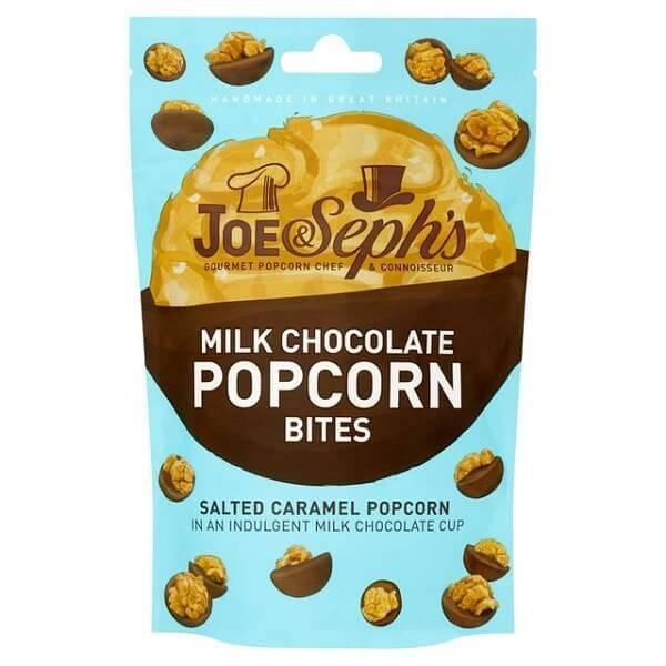 Bilde av Joe & Seph`s - Milk Chocolate & Salted Caramel Popcorn Bites 63g