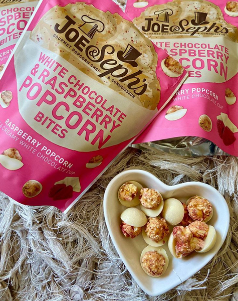 Bilde av Joe & Seph`s - White Chocolate & Raspberry Popcorn Bites 63g