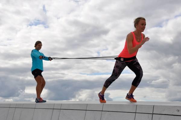 Bilde av Ropes - Bungee Duo Trainer - Hard - Rød