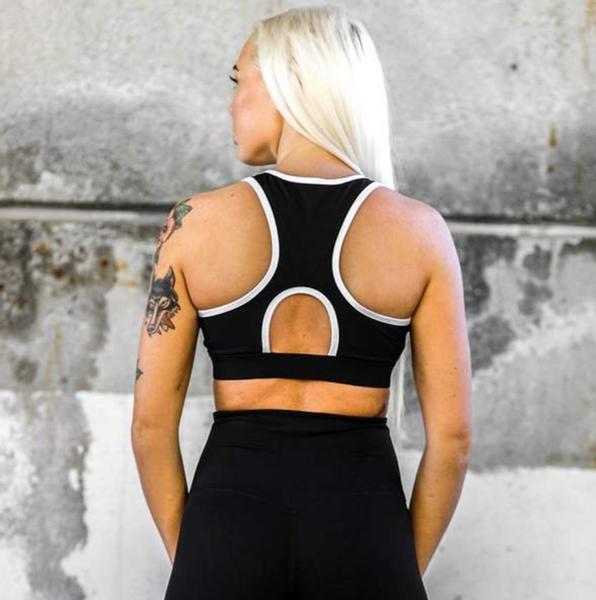 Bilde av BARA Sportswear - Black Lux Zip Bra