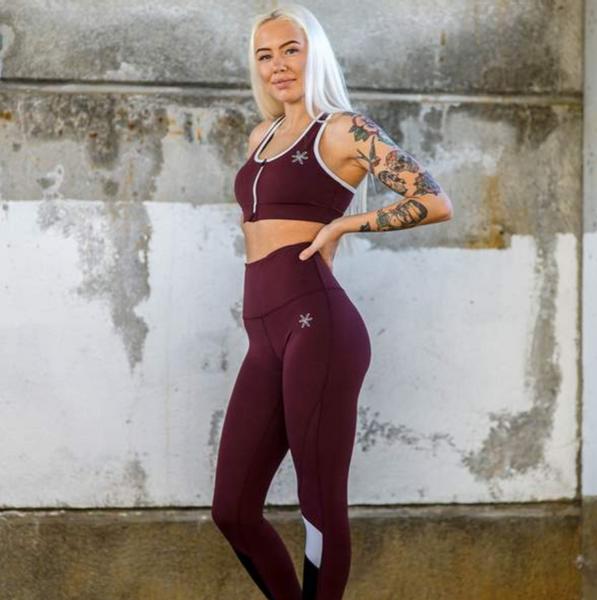 Bilde av BARA Sportswear - Berry Lux Zip Bra