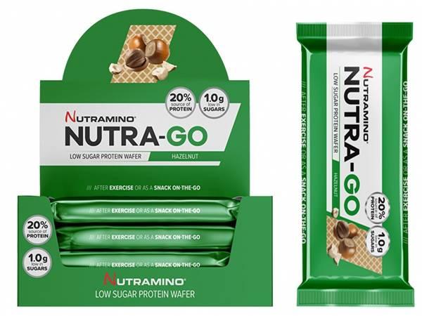 Bilde av Nutramino Nutra-GO Protein Wafer - Hazelnut (12x39g)