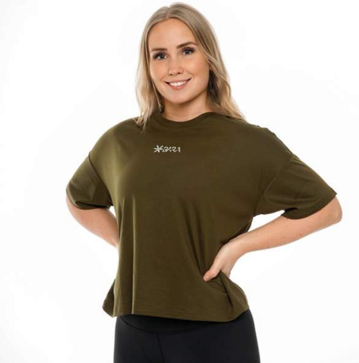 BARA Sportswear - Khaki Oversized Eco T-shirt