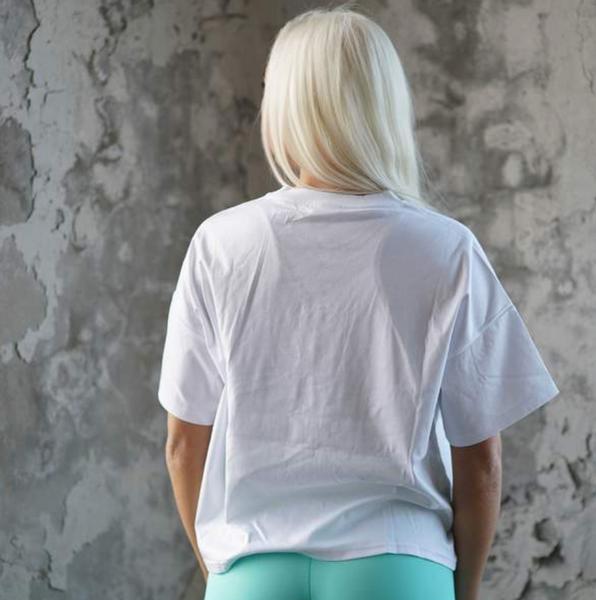 Bilde av BARA Sportswear - White Oversized Eco T-shirt