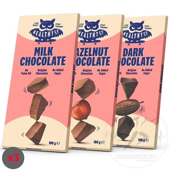 Bilde av HealthyCO Sjokoladeplater (3x100g)