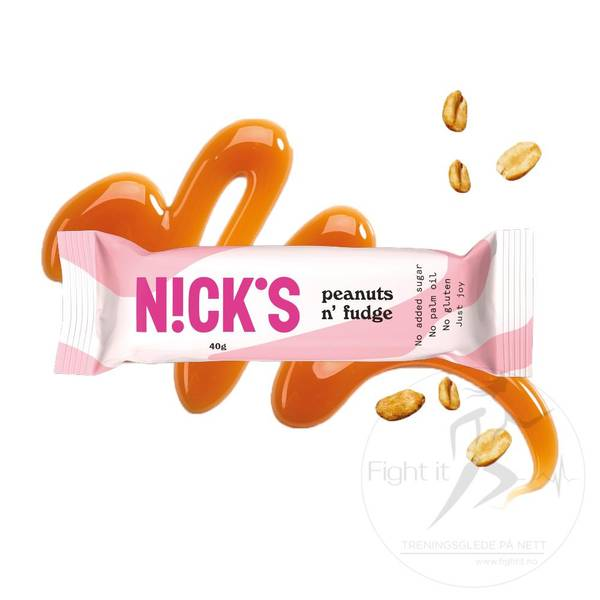 Bilde av Nicks - Peanuts n`Fudge Bar 40g