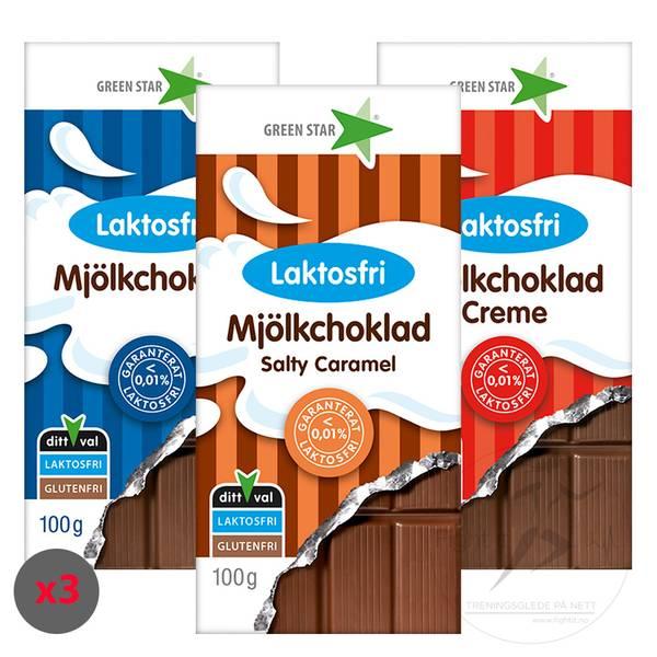 Bilde av Green Star - Laktosefri Melkesjokolade