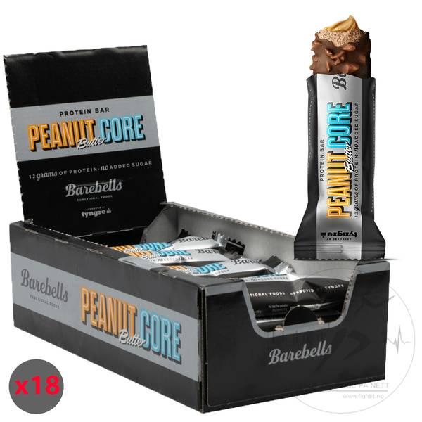 Bilde av Barebells - Core Proteinbar - Peanut Butter (18x35g)
