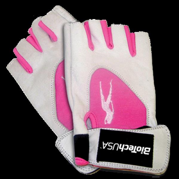 Bilde av BiotechUSA - PinkFit Gloves - White/Pink