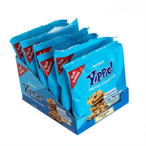 Bilde av Weider - Yippie Protein Cookie Bites - Chocolate Chip (6x50g)