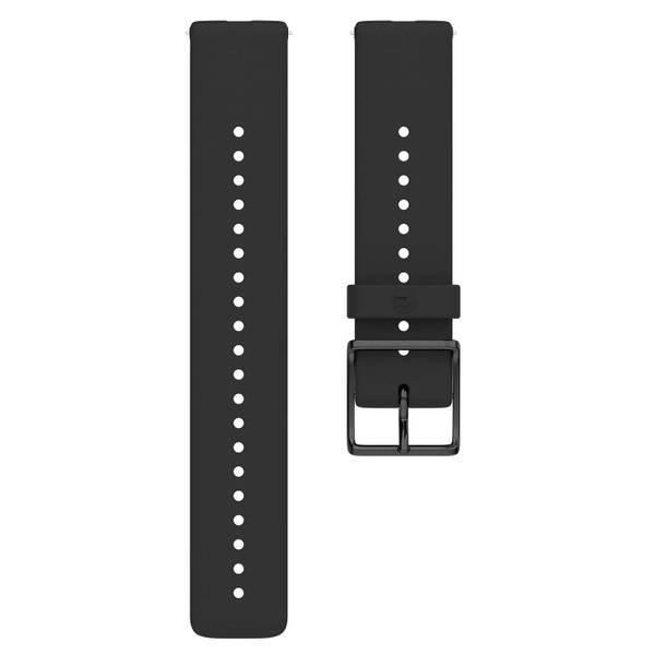 Bilde av Polar Silicon Wrist 20mm - Black/Black S