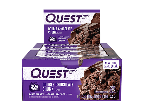 Bilde av Questbar - Double Chocolate Chunk 60g