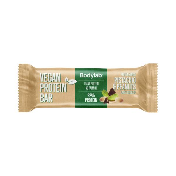 Bilde av Bodylab Vegan Protein Bar  - Pistachio & Peanuts 40g