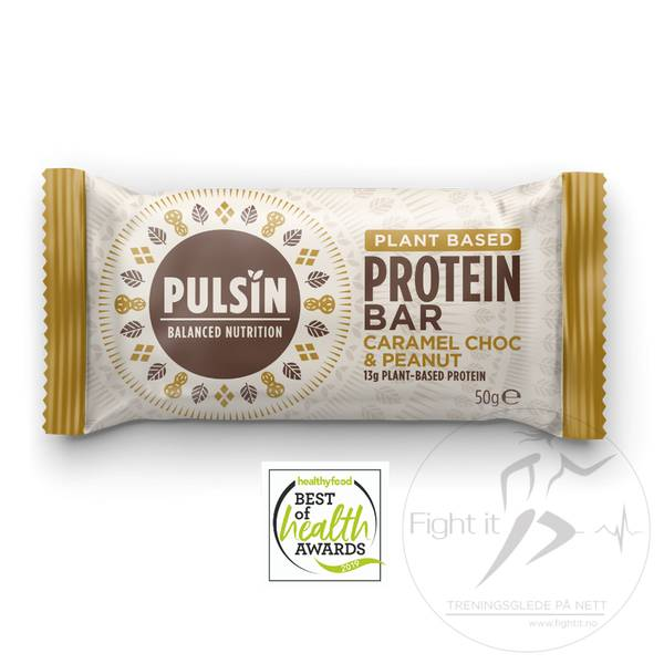 Bilde av Pulsin Protein Bar - Caramel Choc & Peanut (12x50g)