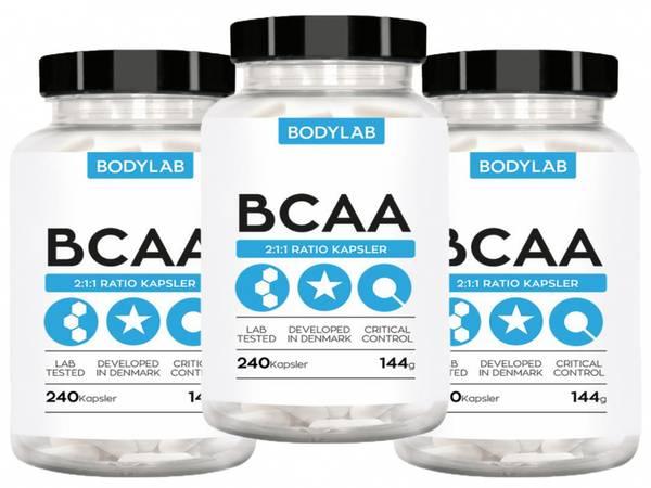 Bilde av Bodylab - BCAA Kapsler (3x240stk.)