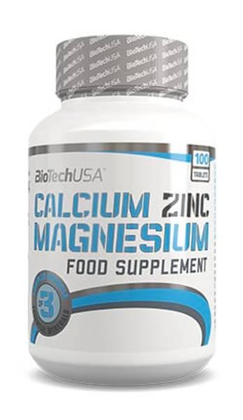 Bilde av BioTechUSA - Kalsium, Sink & Magnesium 100kap.