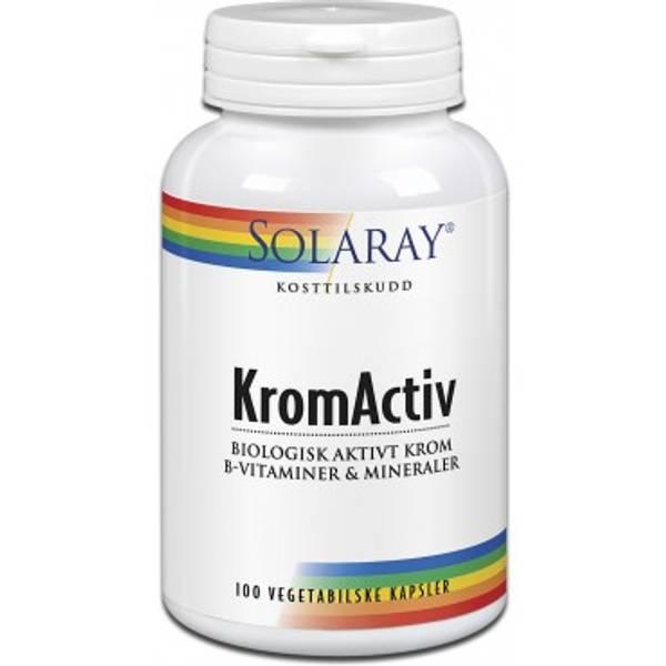 Bilde av Solaray - KromActiv 100 kapsler