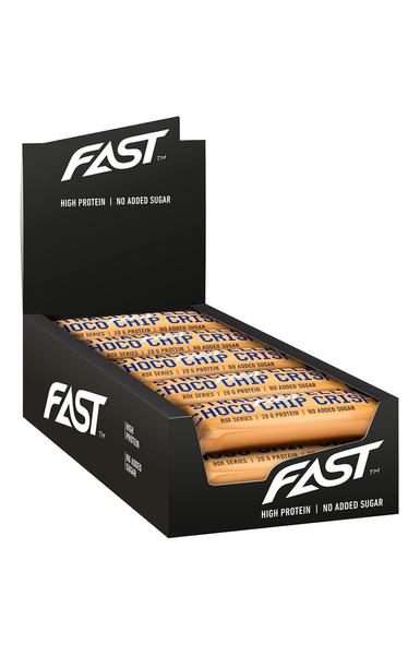 Bilde av FAST - Rox Proteinbar - Stracciatella Choco Chip Crisp 55g