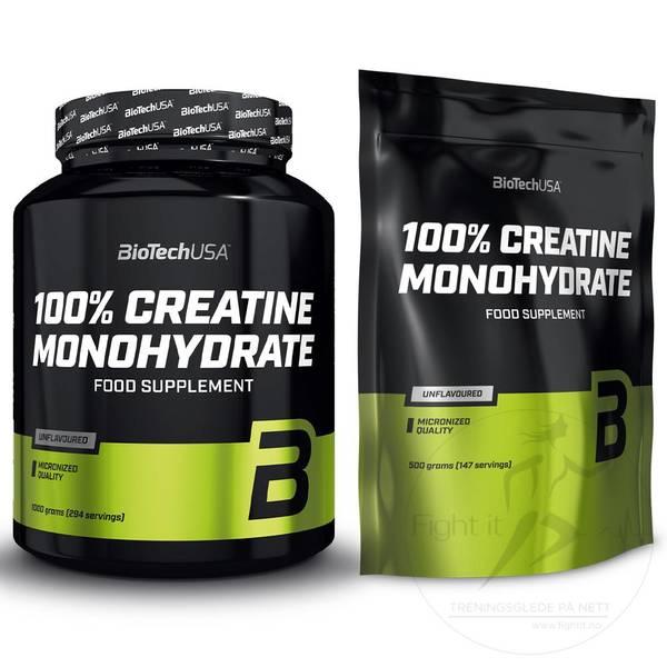 Bilde av BioTechUSA - 100% Creatine Monohydrat POSE 500g