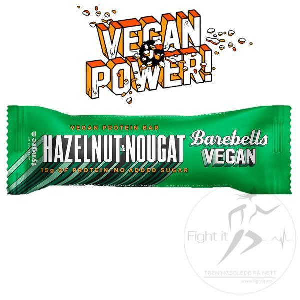 Bilde av Barebells - Vegan Proteinbar - Hazelnut & Nougat (12x55g)