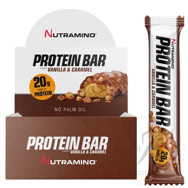 Bilde av Nutramino Proteinbar - Vanilla & Caramel (12x64g)