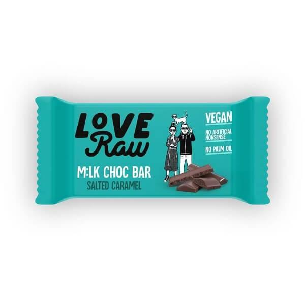 Bilde av LoveRaw Milk Choc Bars - Salted Caramel 30g