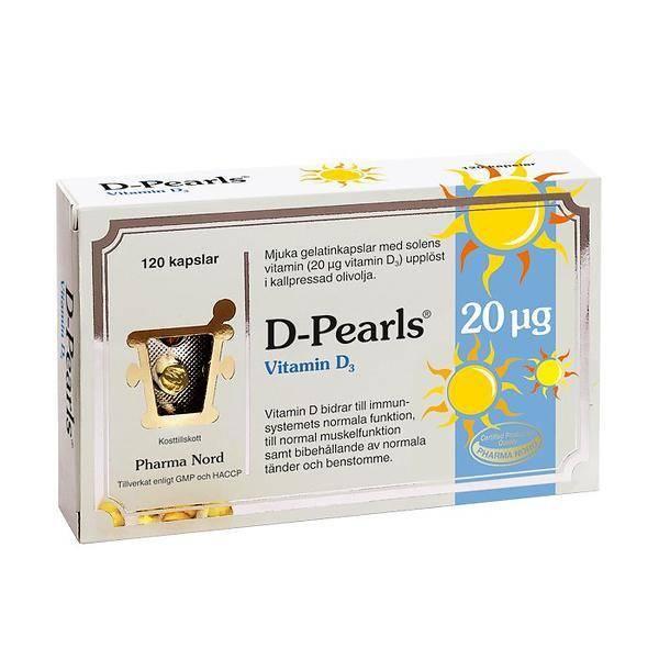 Bilde av Pharma Nord - D-Pearls 20üg - 120 kapsler