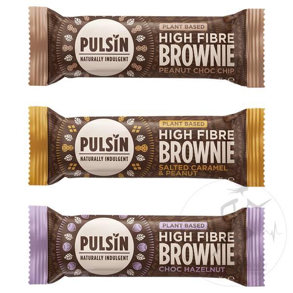 Bilde av Pulsin High Fibre Brownie - Choc Hazelnut 35g