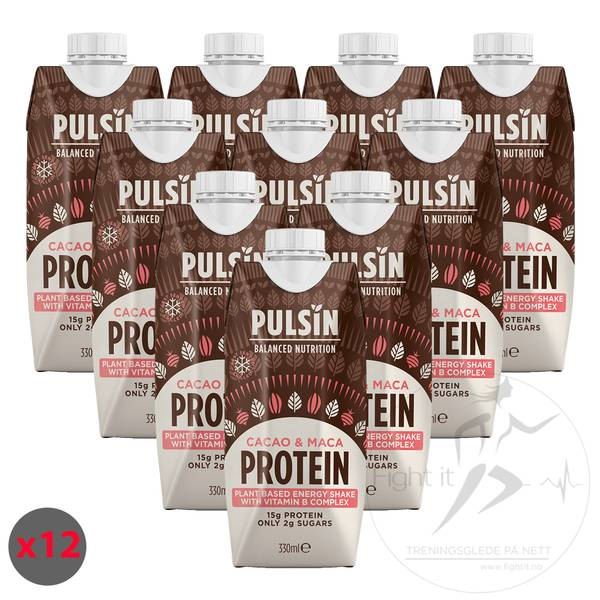 Bilde av Pulsin - Cacao & Maca Protein Shake (12x330ml)