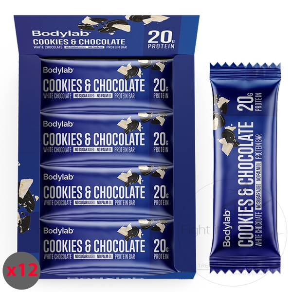 Bilde av Bodylab Protein Bar - Cookies & White Chocolate (12x55g)