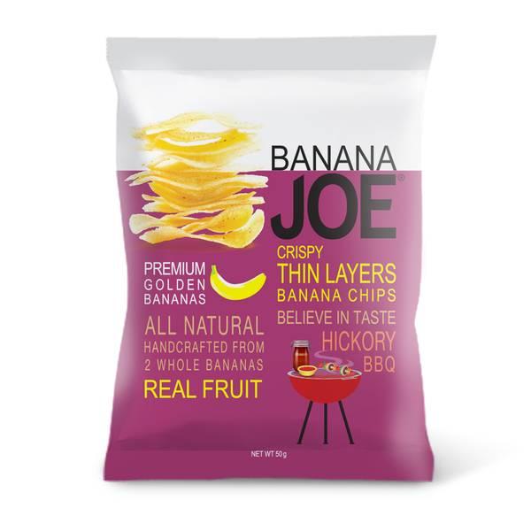 Bilde av Banana Joe - Banan Chips - Hickory BBQ 50g
