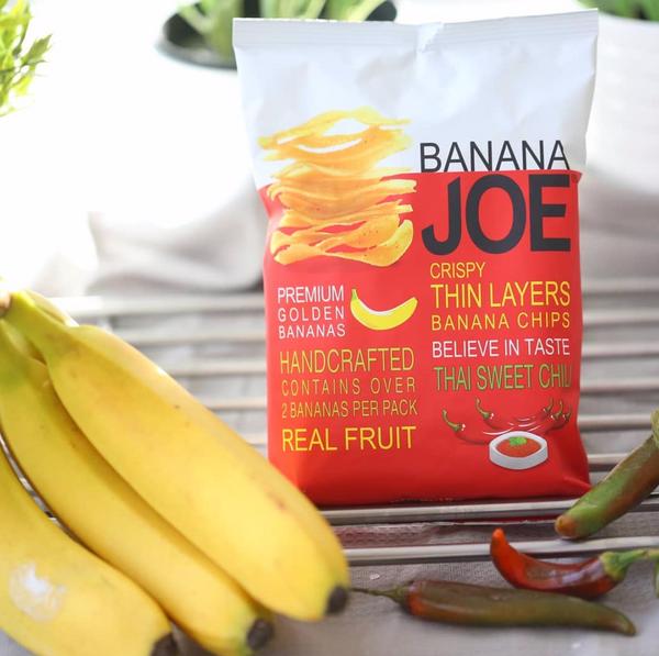Bilde av Banana Joe - Banan Chips - Thai Sweet Chili 50g