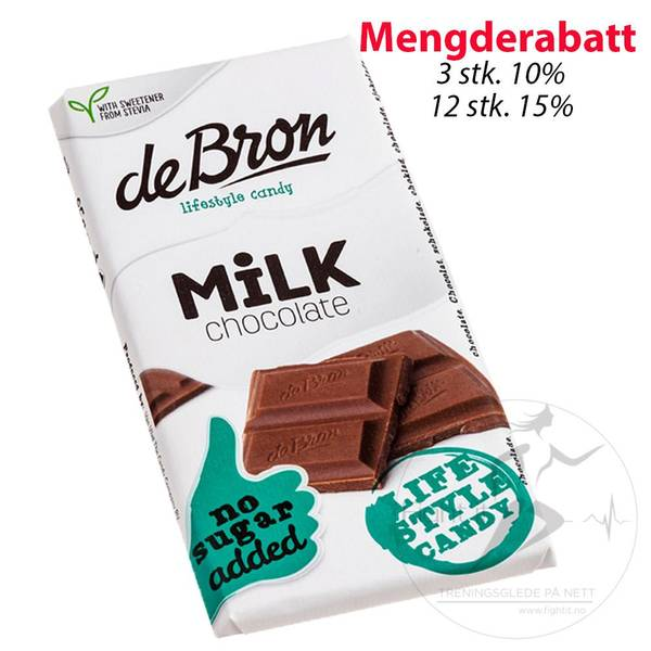 Bilde av de Bron - Milk Chocolate 85g