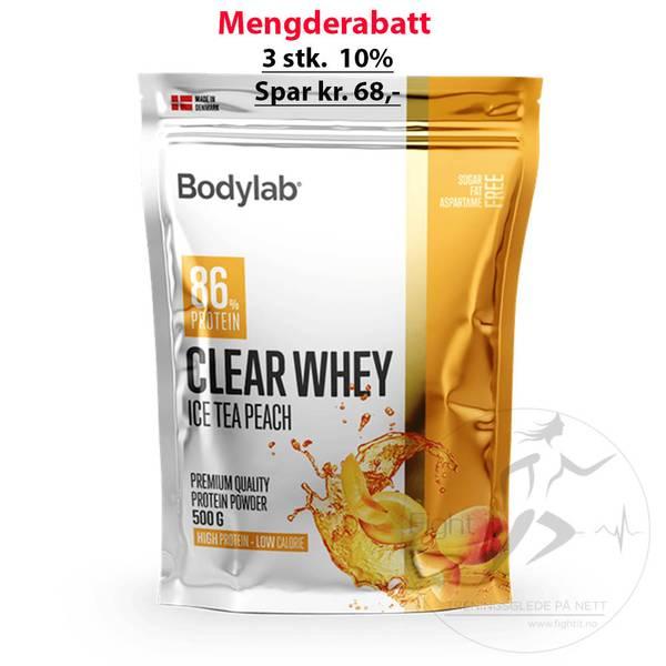 Bilde av Bodylab - Clear Whey - Ice Tea Peach 500g