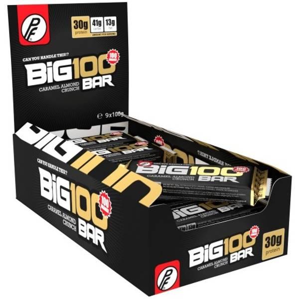 Bilde av PF - Big 100 Proteinbar - Caramel Almond Crunch 100g