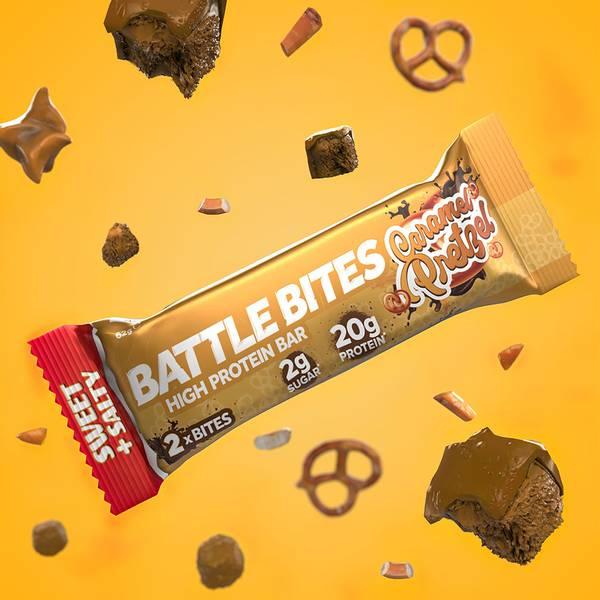 Bilde av Battle Bites - Caramel Pretzel (12x62g)