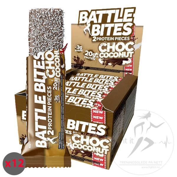 Bilde av Battle Bites - Choc Coconut (12x62g)