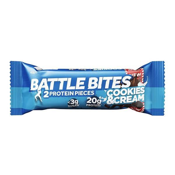 Bilde av Battle Bites - Cookies & Cream (12x62g)