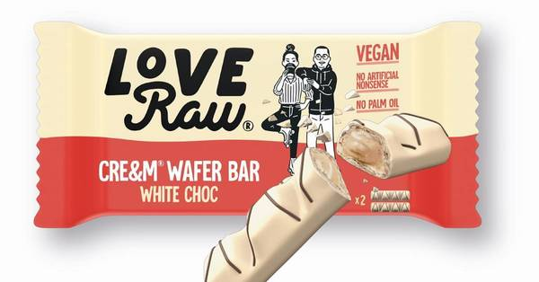 Bilde av LoveRaw - White Choc Cream Wafer 45g