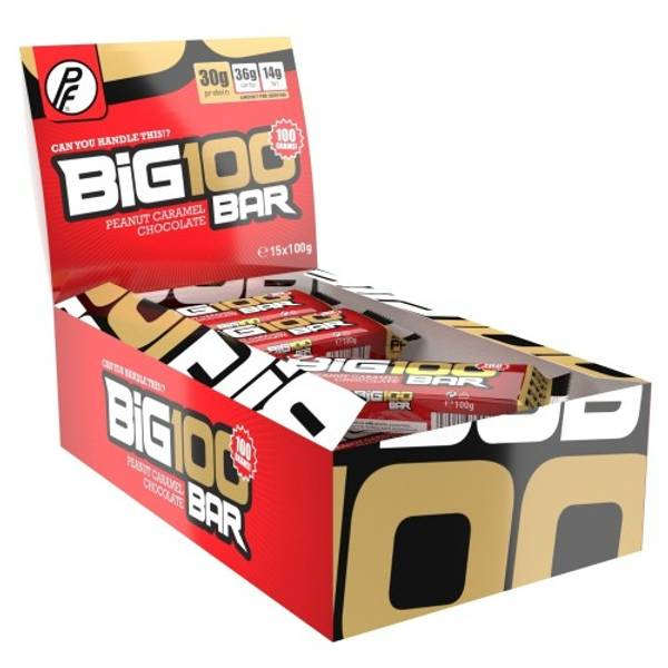 Bilde av PF - Big 100 Proteinbar - Peanut Caramel Chocolate (15x100g)