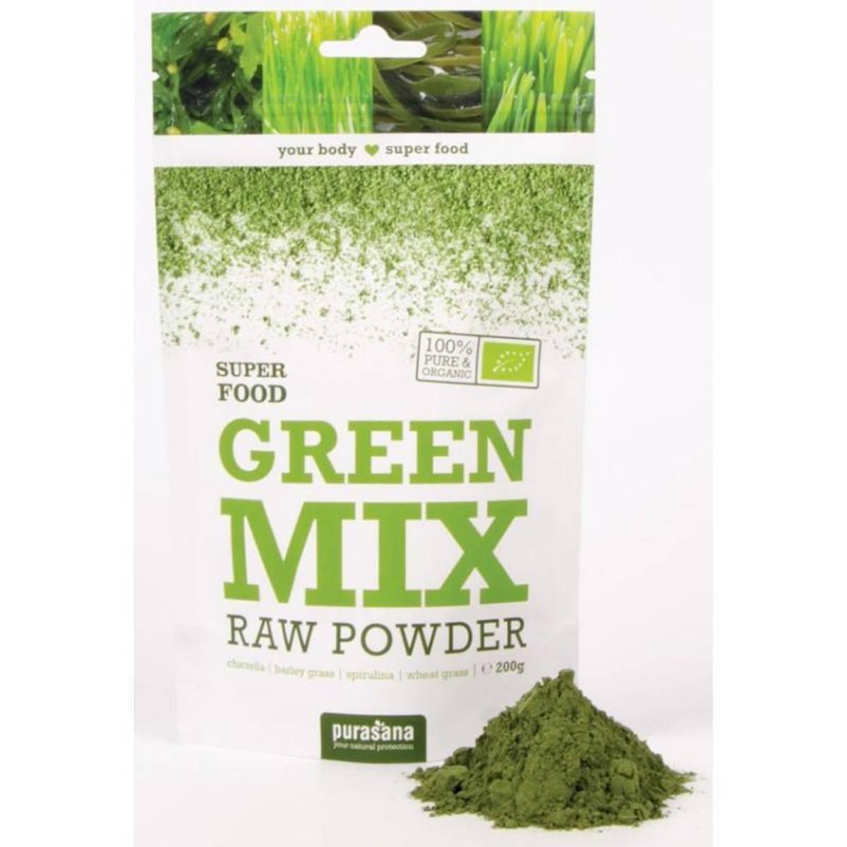 Purasana - Green Mix Powder Øko 200g