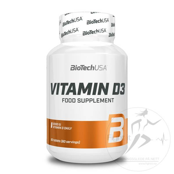Bilde av BioTechUSA - Vitamin D3 (60kap.)