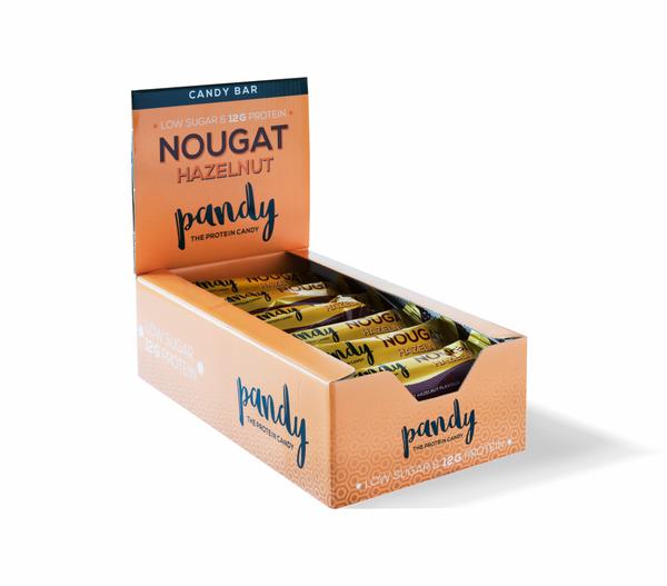 Bilde av Pandy Protein - Candy Bar Nougat Hazelnut (18x35g)