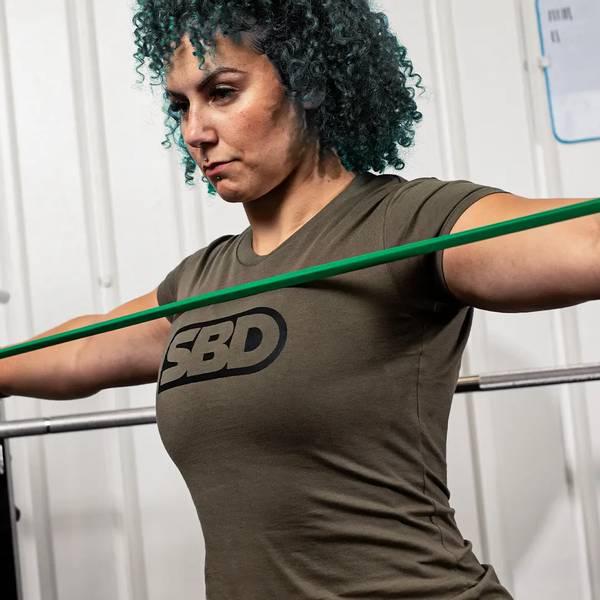 Bilde av SBD Endure T-Shirt - Green W/Black - Dame