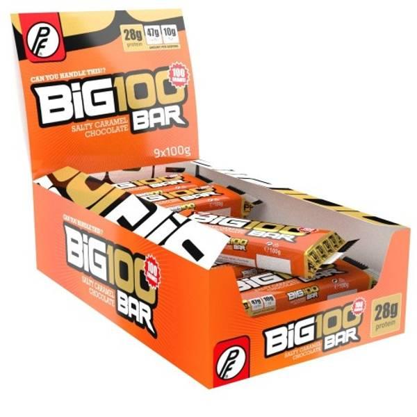 Bilde av PF - Big 100 Proteinbar - Salty Caramel Chocolate (15x100g)